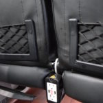 Luxury Bus With Leather Black Seats with Electrical Outlets